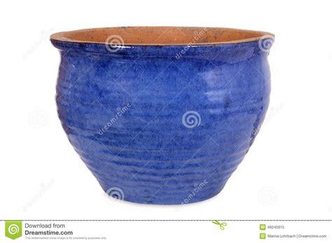 pot de fleur bleu de poterie photo stock image 49245915