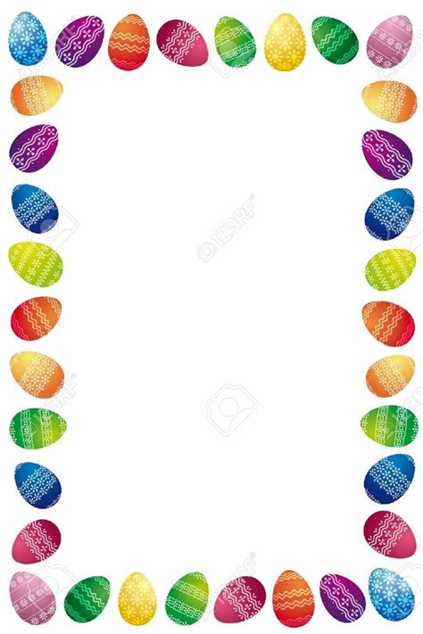 awesome easter egg border images images easter templates easter eggs easter coloring pages