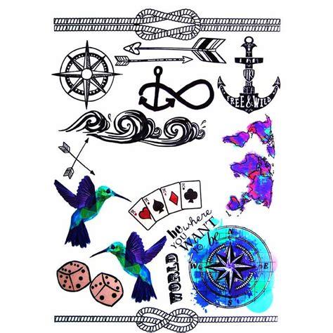 tatouage ancre marine tatouage temporaire boussole et ancre marine school