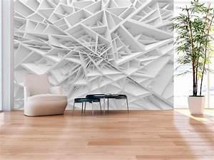 Papier Peint Trompe L Oeil 3d : papier peint design white spider 39 s web trompe l 39 oeil ~ Melissatoandfro.com Idées de Décoration