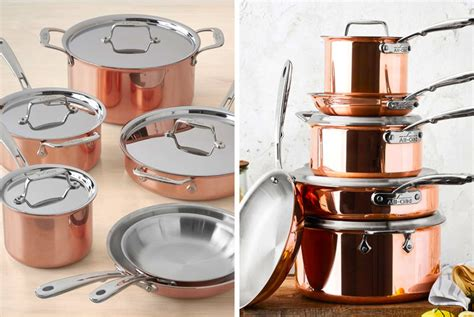 stunning rose gold cookware  copper collection