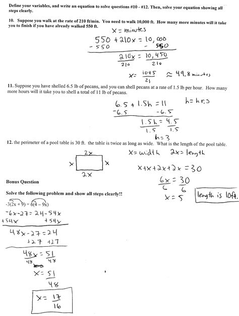algebra worksheets math with mr bugbee
