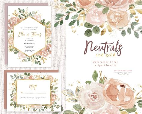 watercolor flowers clipart floral borders frames