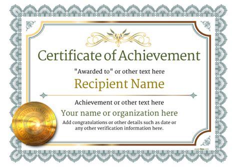 certificate  achievement  templates easy