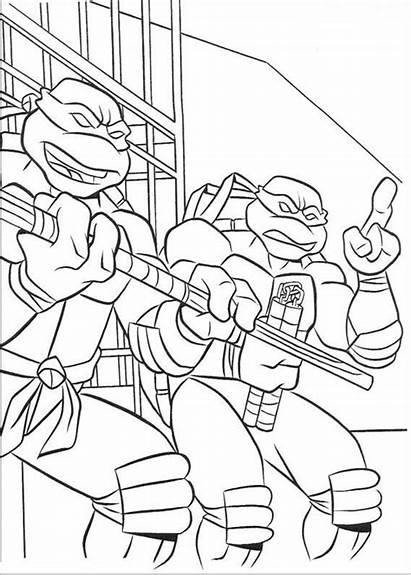 Ninja Coloring Pages Turtles Turtle Michelangelo Mutant