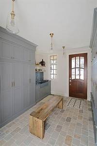 mudroom with cabinetry painted in benjamin