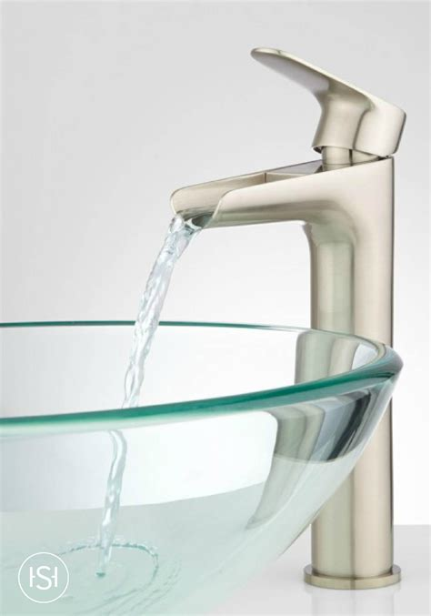 Bathroom Sink Faucets by Pagosa Waterfall Vessel Faucet The Signature Bathroom