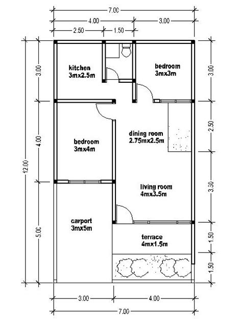 HOUSE PLANS 7X12 House Affair