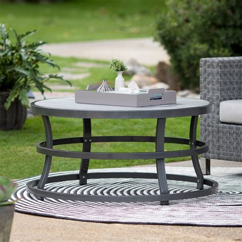 Explore our great variety of colors, shapes, finishes coffee tables. Belham Living Sona Faux Wood Round Outdoor Coffee Table ...