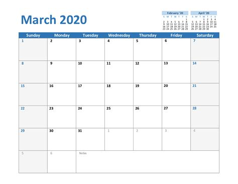march printable calendar template holidays excel
