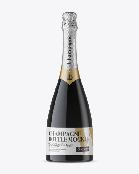 The huge source of free bottle mockup psd templates! Pink Champagne Bottle Mockup - Front View - Green Glass ...
