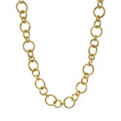 hoop studs gold chain link necklace gale grant