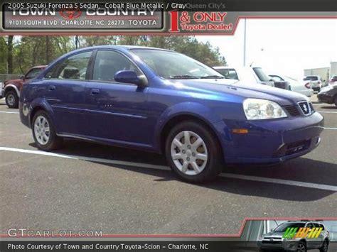2005 Suzuki Forenza S by Cobalt Blue Metallic 2005 Suzuki Forenza S Sedan Gray