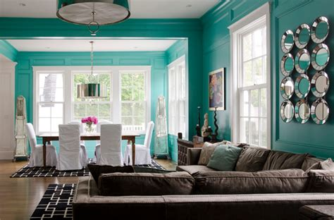 tiffany blue walls contemporary living room olson lewis