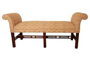 Upholstered Bench Rolled Arms