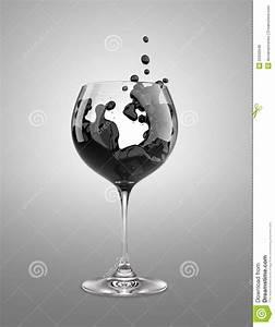 Verre A Vin Noir : verre vin noir illustration stock illustration du noir 25930948 ~ Teatrodelosmanantiales.com Idées de Décoration