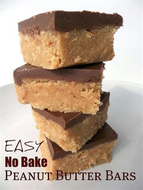 no bake peanutbutter bars desserts