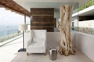 le bois flotte s39empare du mobilier et de la decoration With deco salon bois naturel