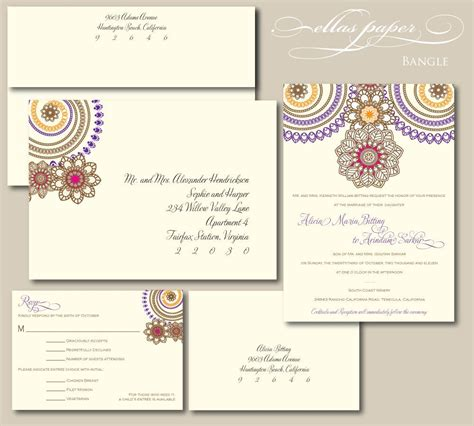 bold wedding invitation bangle wedding invitations