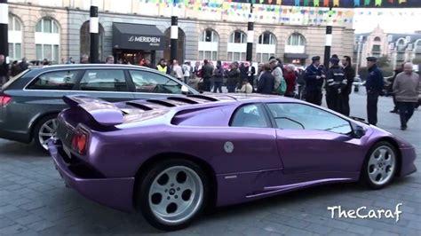 purple lamborghini diablo se engine stall start