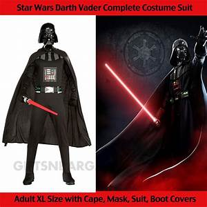 Star Wars Darth Vader Adult Men's Costume Body Suit with ...