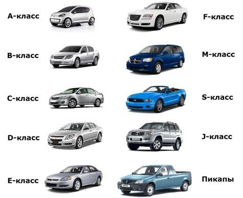 Категории автомобилей по категориям