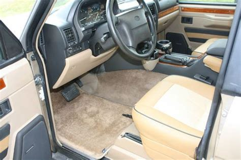 vintage range rover interior purchase used 1995 range rover classic roman bronze all