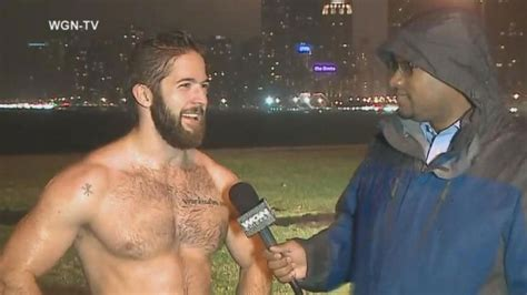 shirtless man   rain video abc news