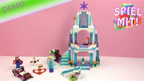 und elsa schloss frozen lego demo das schloss mit und elsa