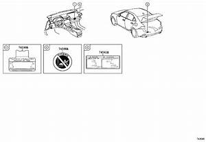 Lexus Is 250 Tire Label  Plate  Compact Spare Tire Caution