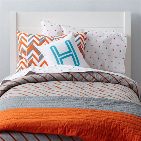 Bedding For by Prints Bedding Orange The Land Of Nod
