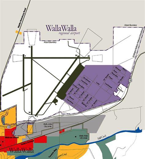 location map walla walla regional airport