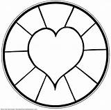 Coloring Heart Mandala Printable Children Pages Simple Flickr sketch template