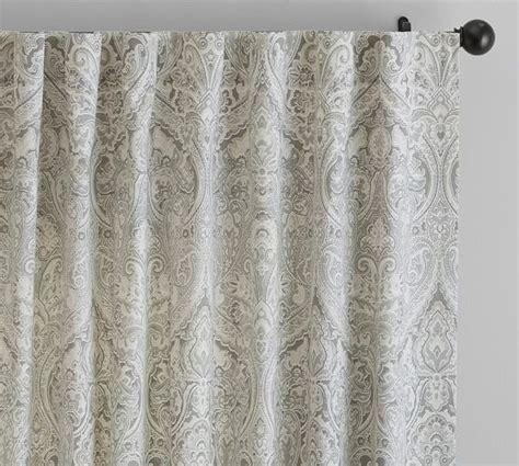 pottery barn window treatments ivory parchment platinum