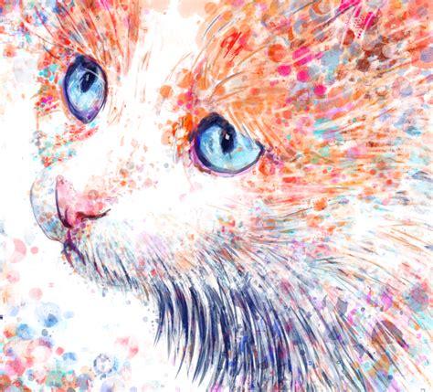 watercolour cat watercolour brushes  krita  digit ds