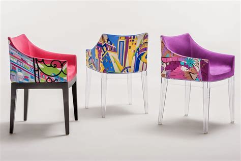 chaise mademoiselle madame pucci edition kartell design armchair of