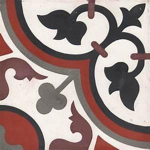 Carreaux De Ciment Rouge : aliso carreaux de ciment 20 x 20 rouge gris carra ~ Melissatoandfro.com Idées de Décoration