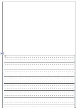 freebie dotted thirds printable paper  classroom
