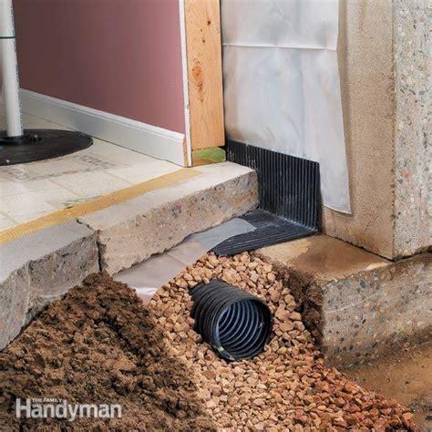 basement drainage drying  wet basement  family handyman