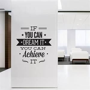 Wall decal quotes art typographic sticker dream it