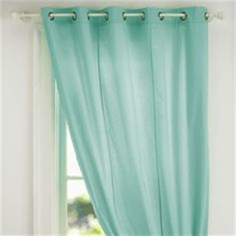 mint curtains on