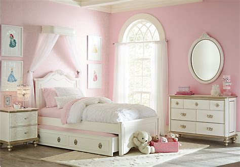 Rooms To Go Kids : Disney Princess Enchanted Kingdom White Pc Twin Panel