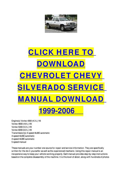 car owners manuals free downloads 2006 chevrolet silverado 2500 free book repair manuals chevrolet chevy silverado service manual download 1999 2006 by cycle soft issuu