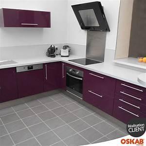 Cuisine Couleur Aubergine : cuisine couleur aubergine au style design implantation en ~ Premium-room.com Idées de Décoration