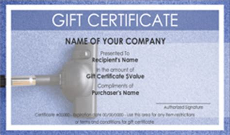 house cleaning service gift certificate templates easy