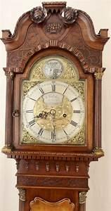 Small, Antique, Mahogany, Georgian, Style, Longcase, Clock, Circa, 1920