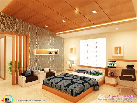 living master bedroom stair interiors kerala home design and floor plans
