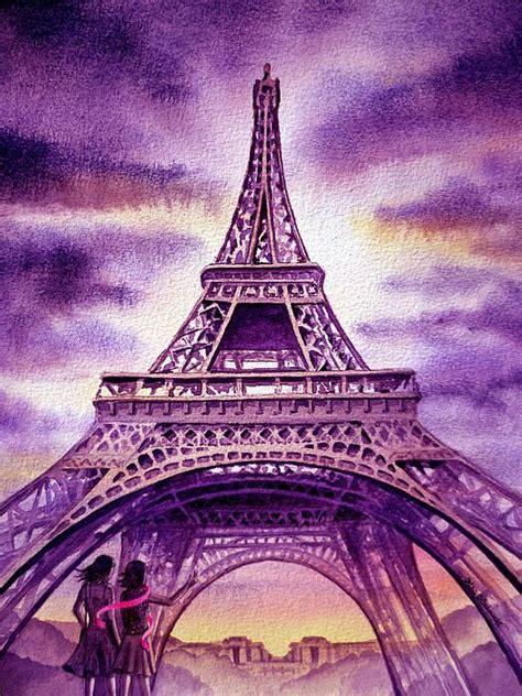 purple paris  irina sztukowski  images eiffel