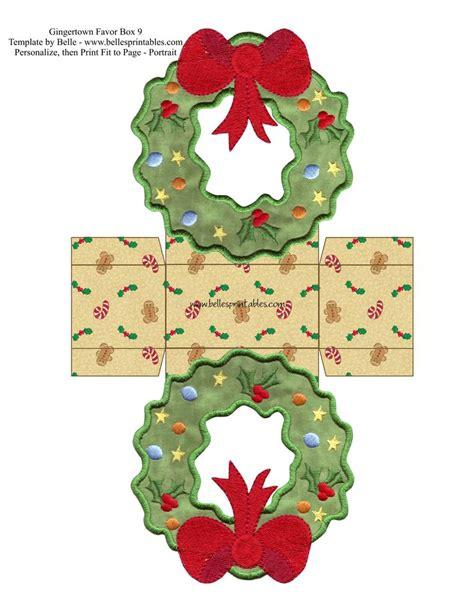 gingertown favor boxes wreath box kutular