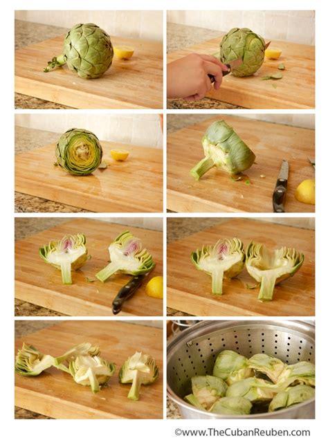 how to cook an artichoke grilled artichokes the cuban reuben